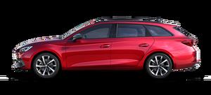 SEAT Leon rot in der Seitenansicht